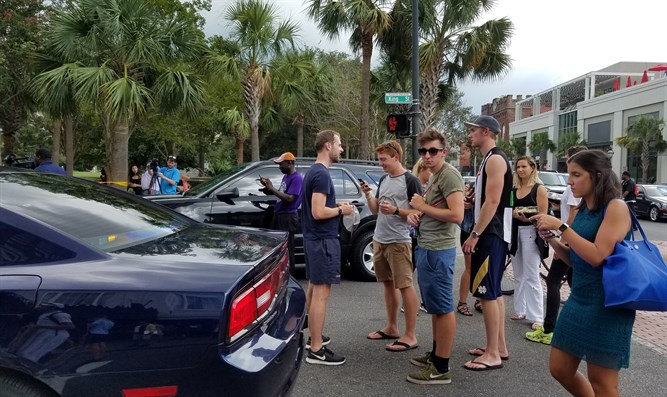 Civilians outside police line near Charleston hostage situation