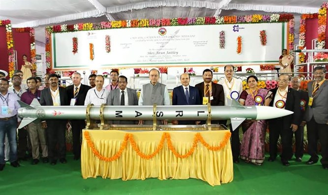 Ceremony for presenting the missile to India
