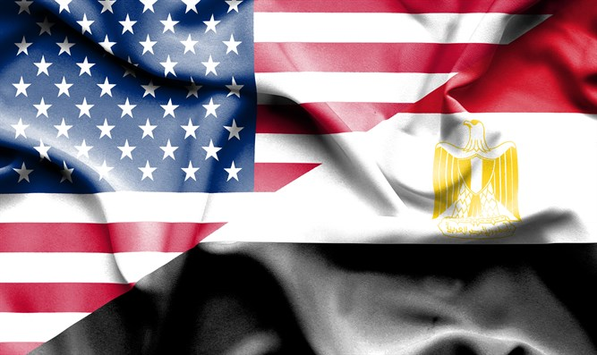 Flags of Egypt and the U.S.