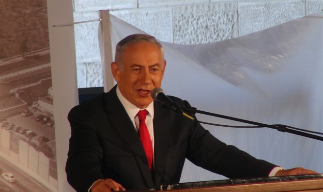Netanyahu at dedication ceremony for new interchange