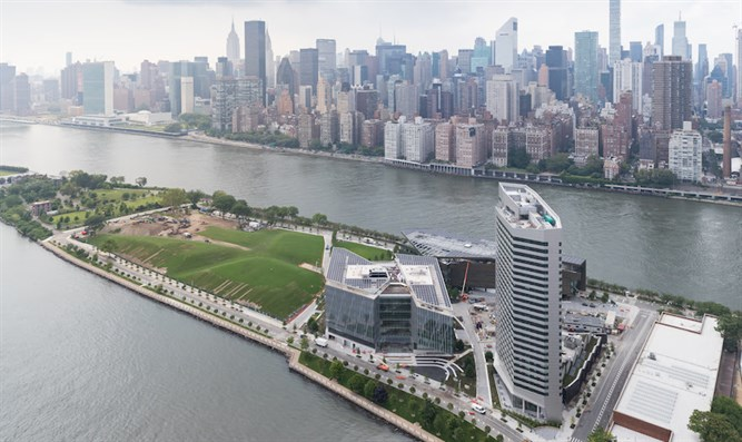The Cornell Tech campus is located on Roosevelt Island in New York.