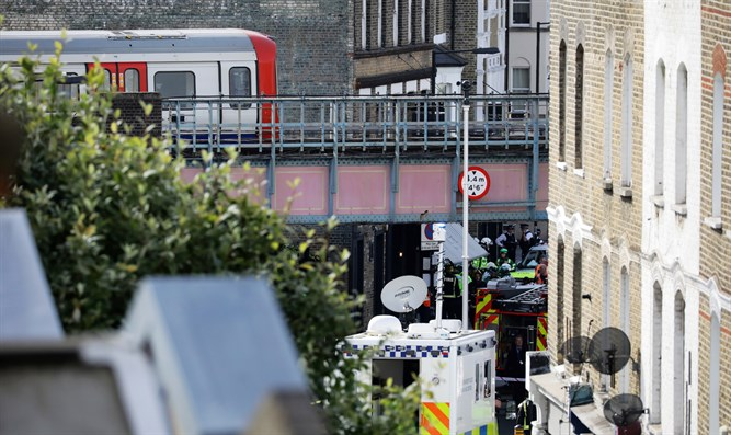 Scene of London Underground attack