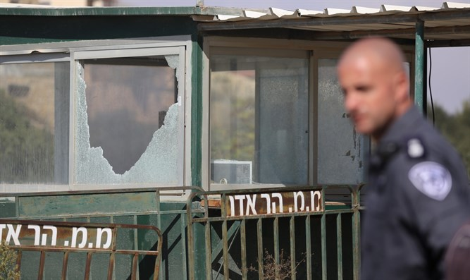 Scene of Har Adar attack