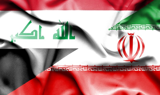Iranian and Iraqi flags