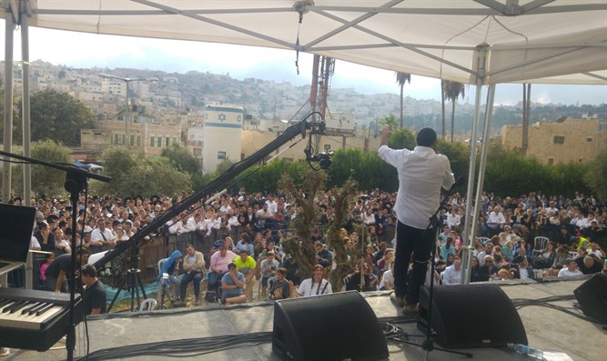 Sukkot celebration in Hevron