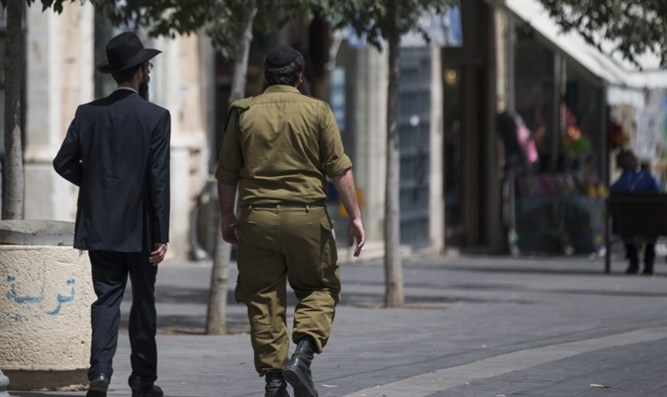 Haredi soldier in Jerusalem