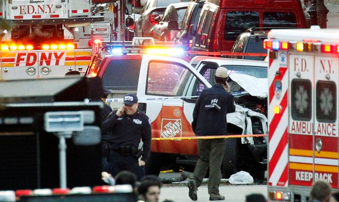 Scene of Manhattan ramming attack
