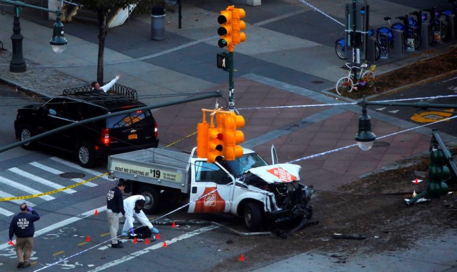 Truck used in Manhattan ramming attack