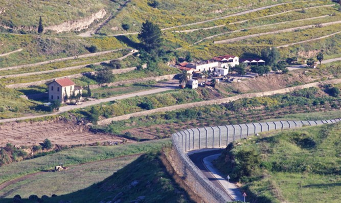 Israeli security fence in Golan Heights
