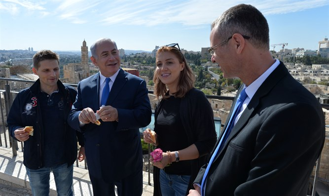 Tour Guide Netanyahu at Tower of David