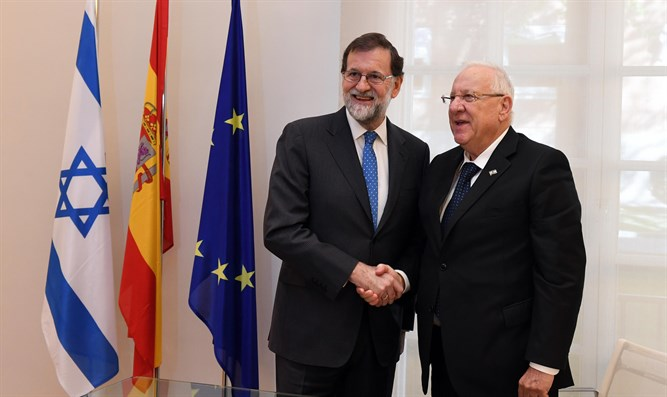 President Rivlin with Spanish PM