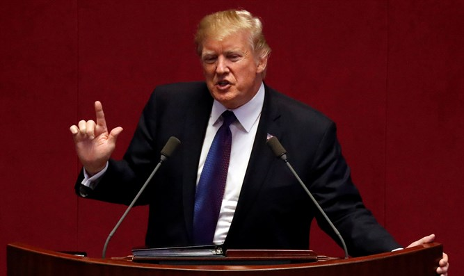 Trump speaks at the South Korean National Assembly