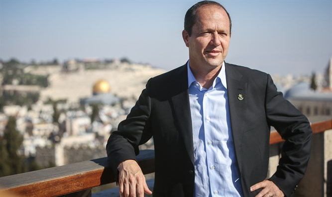 Jerusalem Mayor Nir Barkat at a news conference in the city