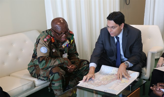 Ambassador Danon and Major General Francis Vib-Sanziri