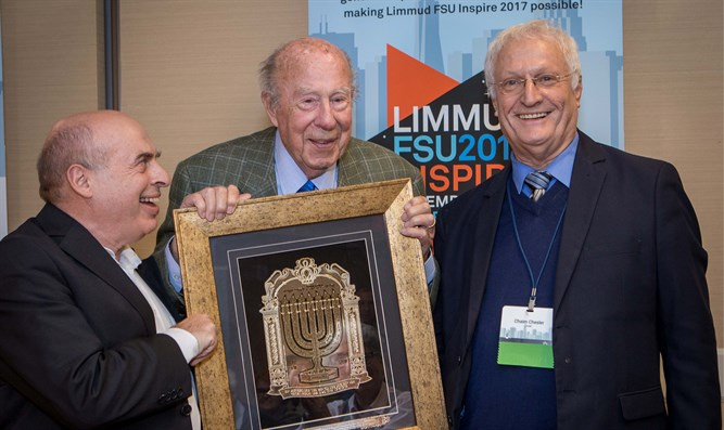 Natan Sharansky, George Shultz, and Limmud FSU Founder Chaim Chesler