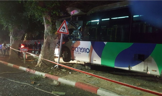 Bus crash near Tiberias