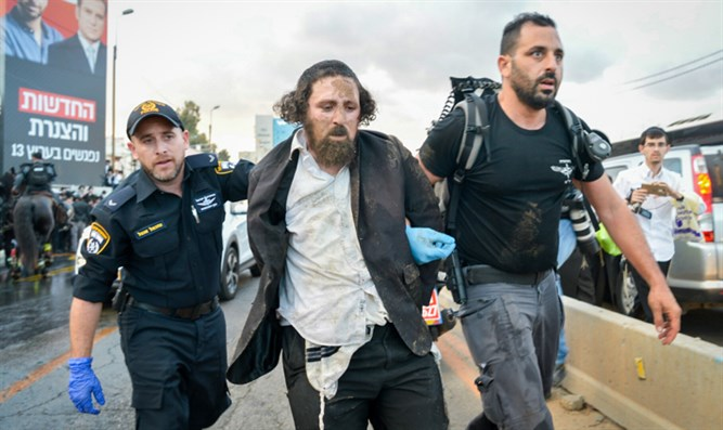 Haredi demonstrator arrested in Bnei Brak