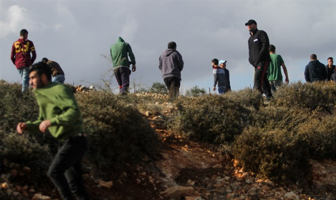 Arab stone-throwers who assaulted Israeli children near Kusra clash with IDF