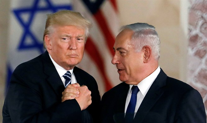 Donald Trump meets with Binyamin Netanyahu