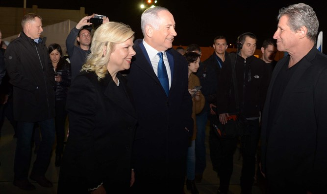 PM Netanyahu and his wife Sara on Saturday night