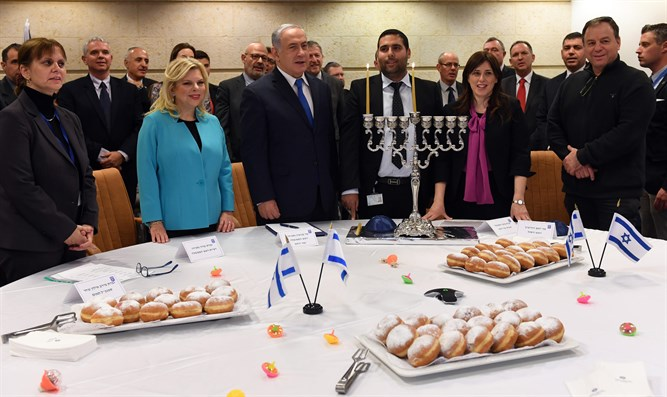 Netanyahu at Hanukkah lighting ceremony