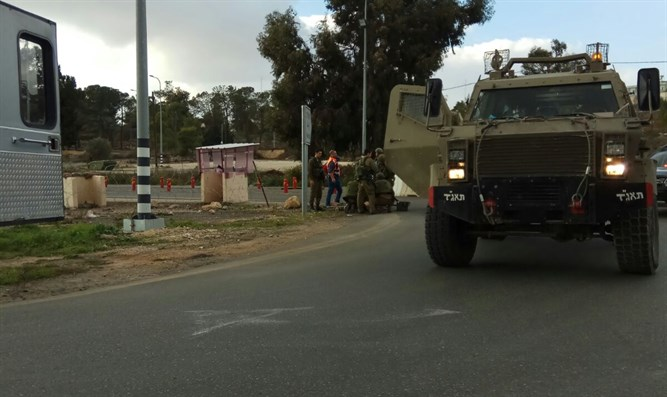 Scene of terrorist attack near Ramallah