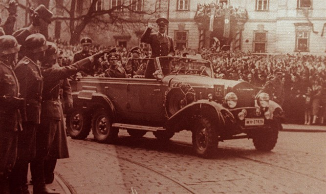 Hitler in his car