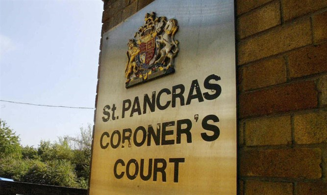A view of the St. Pancras Coroner's court in London