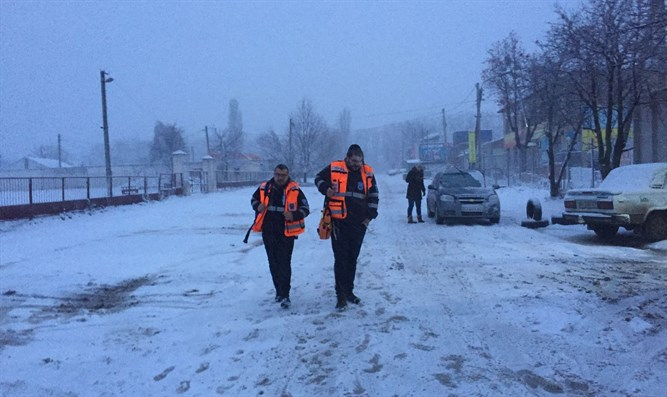 United Hatzalah volunteers in Uman
