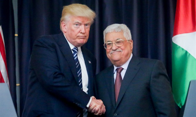 Trump meeting Abbas last year