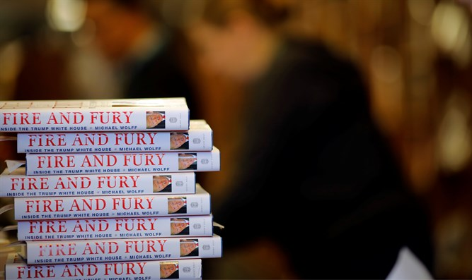 "Copies of the book ""Fire and Fury: Inside the Trump White House"""