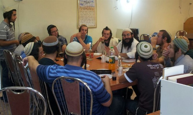 Rabbi Shevach with his students