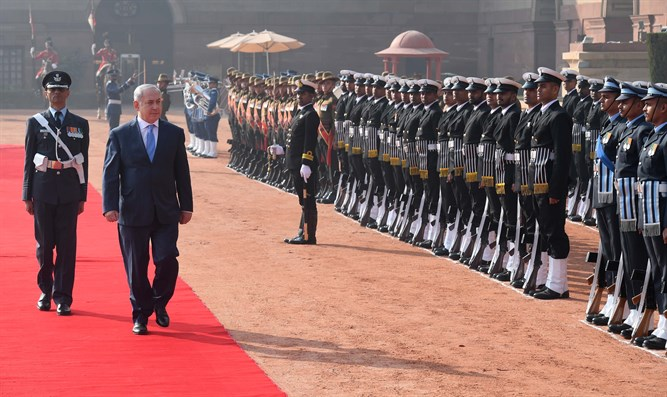 Netanyahu during India visit