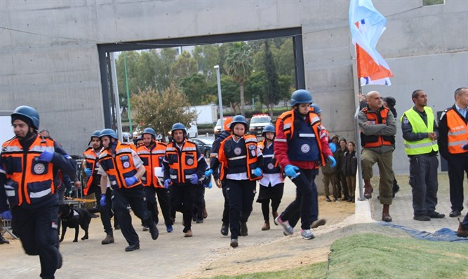 Magen David Adom participates in mass casualty drill