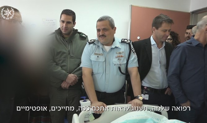 Alsheich meets wounded officers