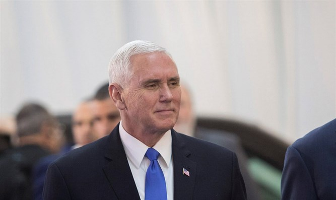 Mike Pence en route to Knesset plenum