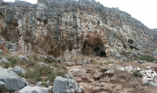 The cave in which the jawbone was found.