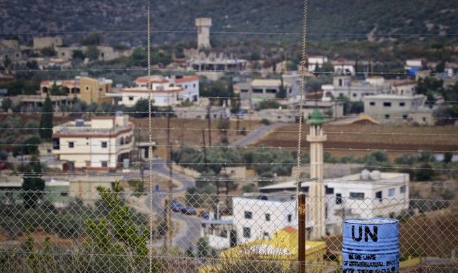 View of Lebanon as seen from Israeli side of border