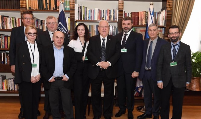 Israeli President Reuven Rivlin met the Babi Yar Holocaust Memorial Center (BYHMC) executi