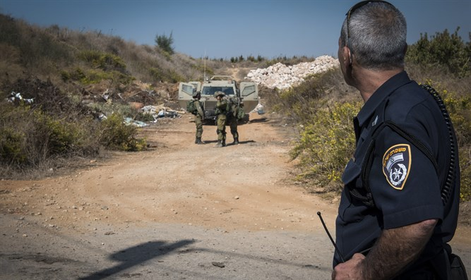 IDF and police near Lebanese border