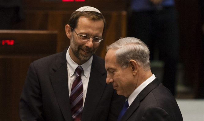 Feiglin and PM Netanyahu