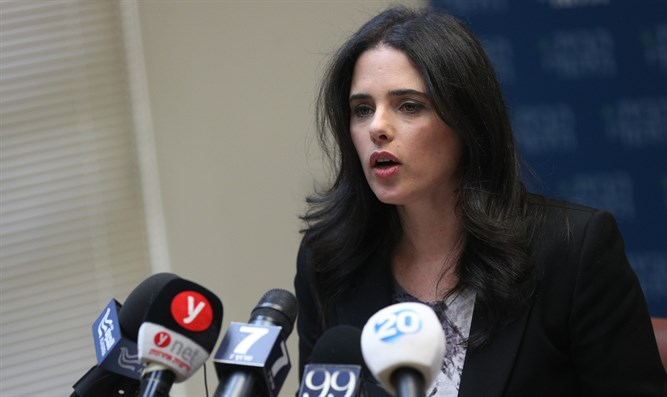 Shaked at Jerusalem press conference