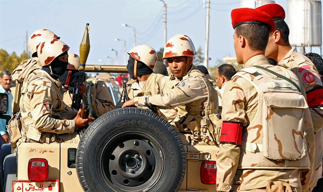 Military forces in North Sinai