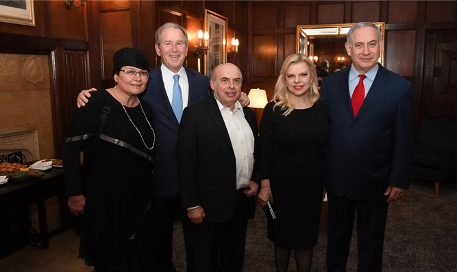 PM Netanyahu and his wife Sara at an event honoring Natan Sharansky