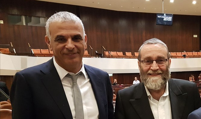Finance Minister Moshe Kahlon and Finance Committee chairman MK Moshe Gafni