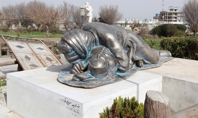 Memorial to victims of 1988 chemical attack in Kurdish town of Halabja