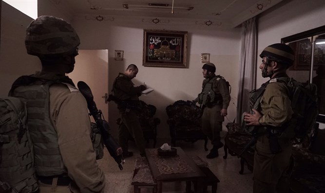 IDF forces in terrorist's house