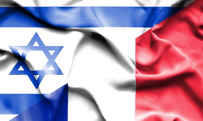 Israeli and French flags