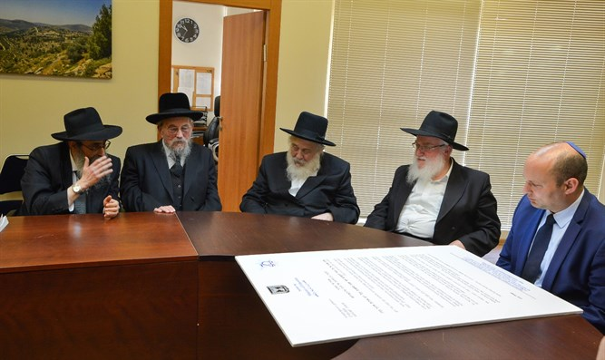 Bennett meets with Chabad rabbis