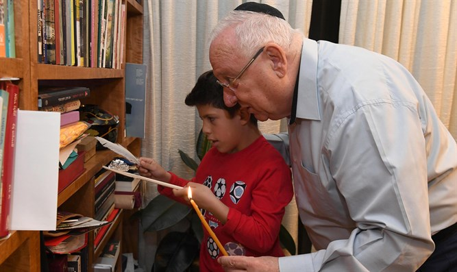 Reuven and Shay Rivlin search for chametz
